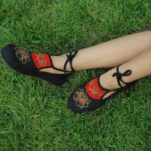 Made Flat by Shoes Comfortable Hands Embroidery Shoes HxOzR
