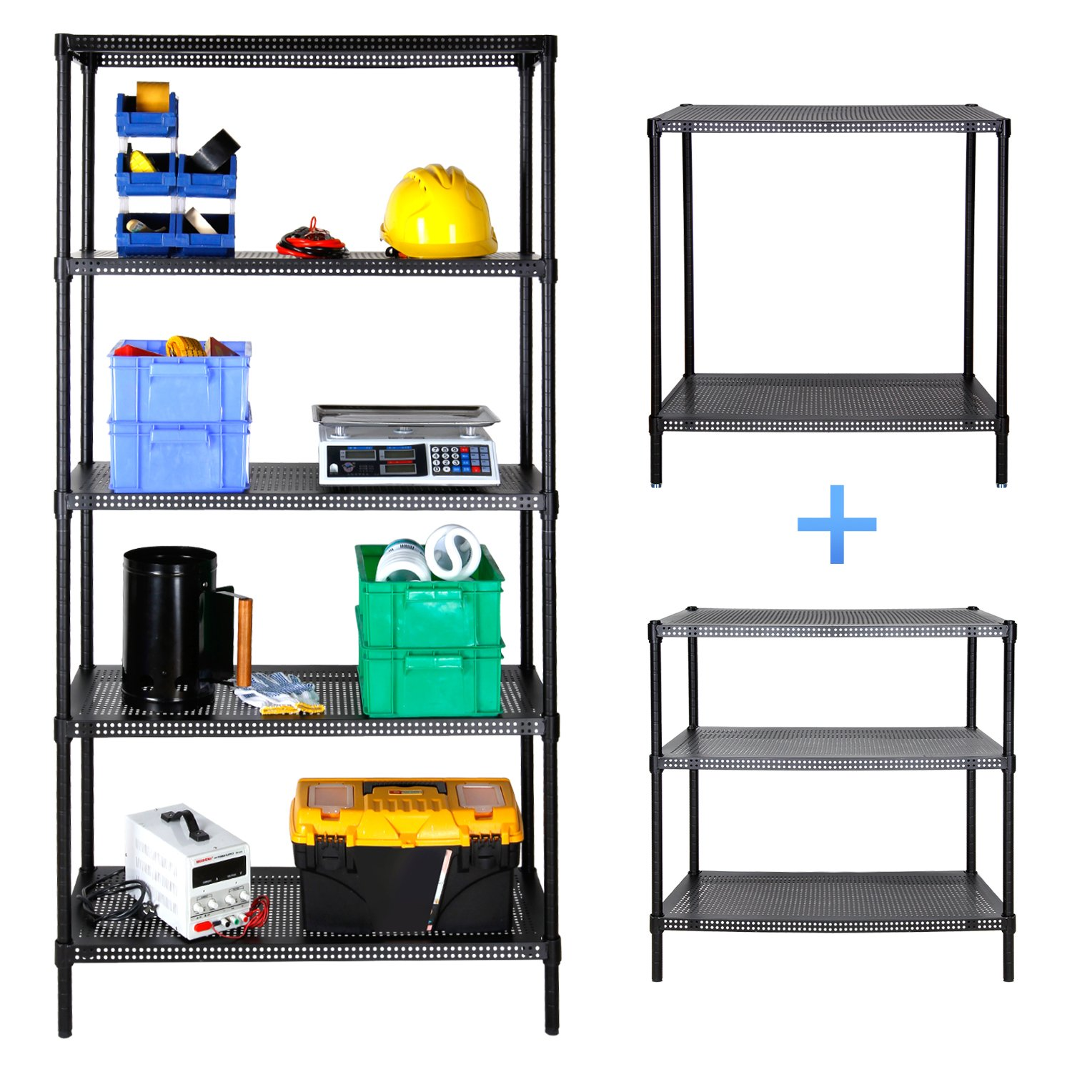 Lifewit 5-Tier Heavy-Duty Multi Purpose Shelving Unit, Adjustable Storage Rack for Kitchen / Office / Living Room / Garage / Workshop, Max Capacity 1650lbs, 35×14×71 inches ( L×W×H ), Carbon Steel