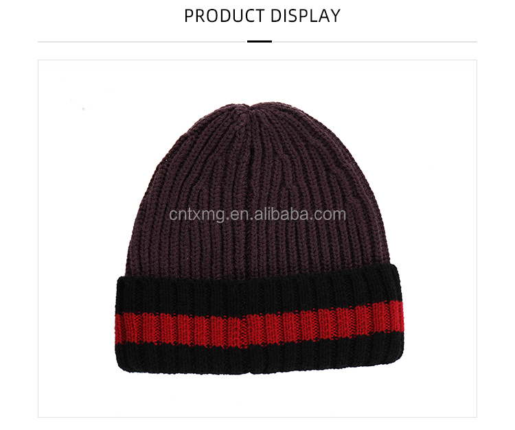 Custom design winter hats wool knitted beanie hat