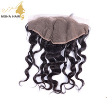 Mona hair brand superior quality human hair full lace frontal wedding hair accessories