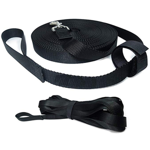 Long Trainer 1 Inch Nylon Long Dog Training Leash with Storage Strap