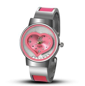 wholesale fashion heart bangle watch heart shaped watches for women