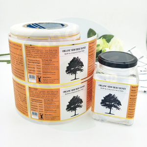 Factory Price Full Colors Printing Roll Adhesive Labels For Jars