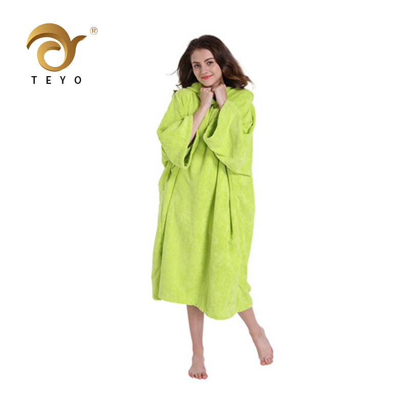 23c890bb53 Changing Robe Bath Towel For Adult Hooded Beach Towels Poncho Bathrobe  Suitable For Women Man Terry