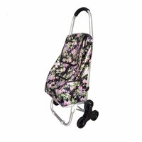 Reliable quality eco-friendly reusable foldable shopping trolley bag with wheels