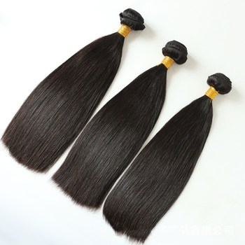 10-18inch top quality double drawn blunt cut Brazilian/Peruvian/indian virgin human hair bundles weaves 12A grade