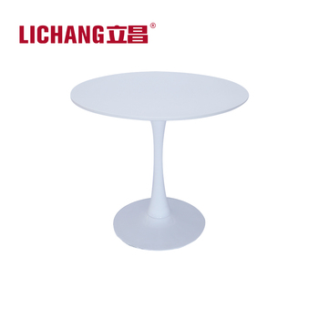White MDF Tulip Table Replica/Round Work Table/Mid Century Table T 15