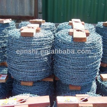 2mm Electro Galvanized Double Twist Fence Barbed Wire