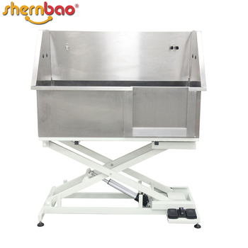 Shernbao BTS 130E Stainless Steel Pet Dog Wash Tub Dog Grooming Clean Large  Electric Lifting