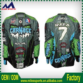 2966b7578 Custom High Quality Padded Sublimation Paintball Jerseys For Team ...