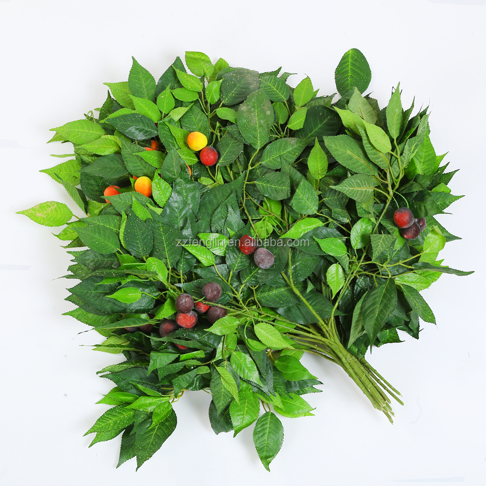 wholesale artificial tree leaves factory direct artificial leaves with fruit