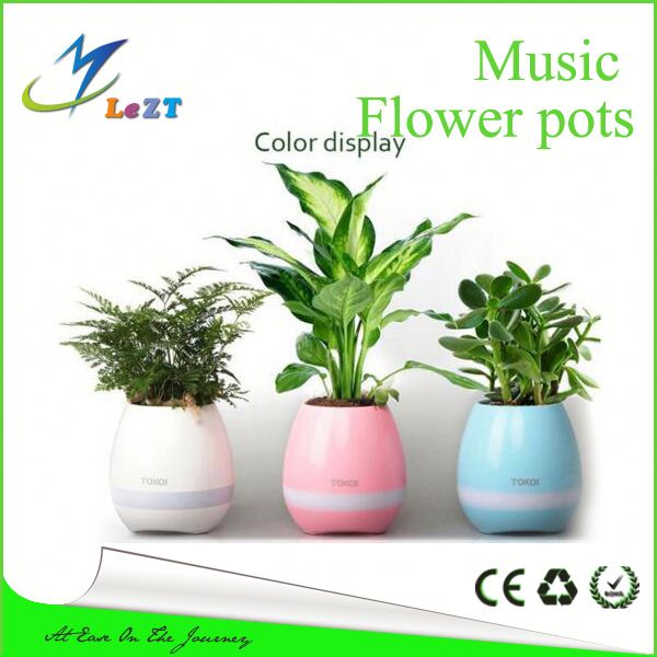 ABS Plastic Sensor touch LED office decorative flower pots plant