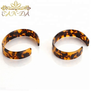 High quality hand accessories tortoise shell color cellulose bracelet jewelry cheap acetate bracelet bangle woman