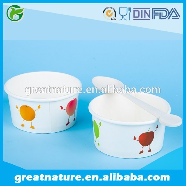 Hot selling ice cream paper cup bowl