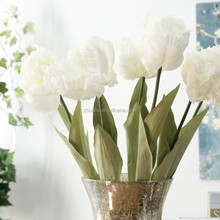 NUL Holland stijl kunstmatige open <span class=keywords><strong>tulp</strong></span> bloemen, pu soft touch gele <span class=keywords><strong>tulp</strong></span>