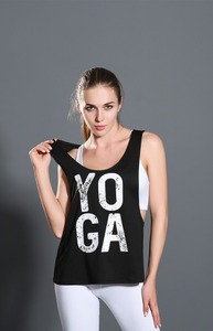 OEM women summer custom Brand Logo 100% cotton Fitness yoga Tank Top