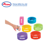 Custom Logo Awareness Silicone Finger Thumb Ring for Gifts