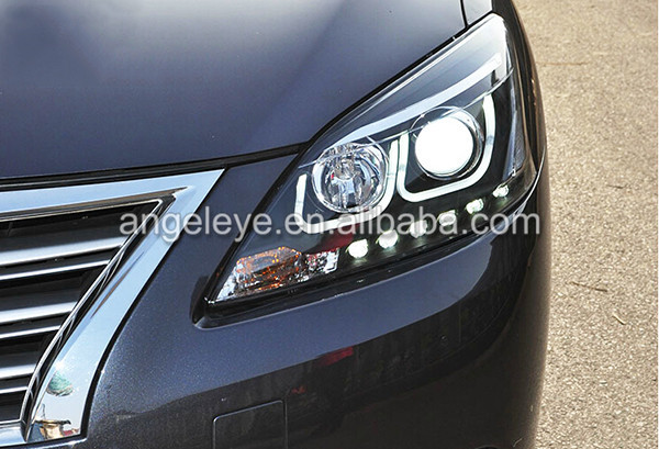 2012--2014 Year For Nissan Sylphy B17 Sentra Angel Eyes Led Head ...