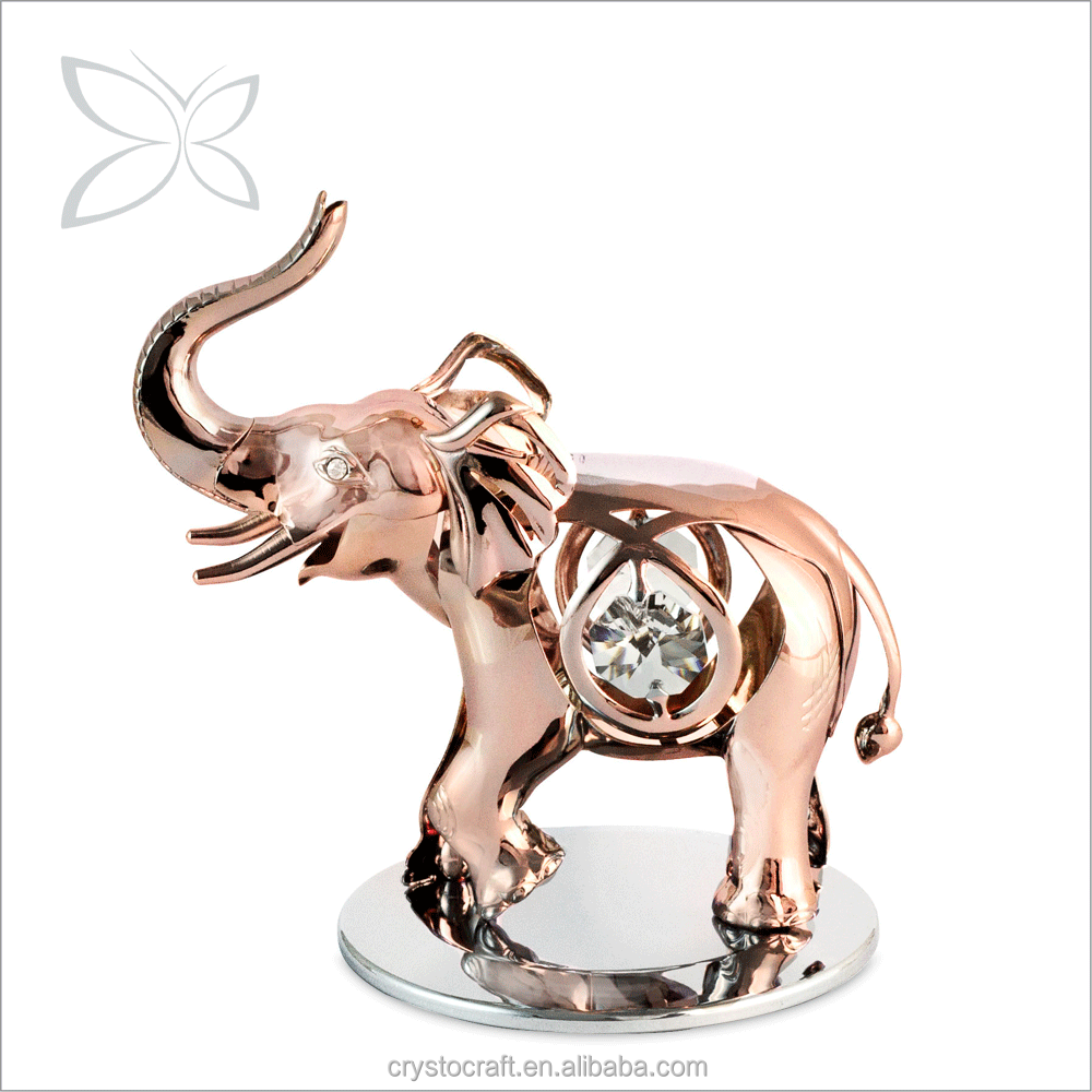 Crystocraft Deluxe Rose Gold Plated Metal Crystal Elephant With Crystals From Swarovski Ornaments Home Decoration And Gifts Buy Rose Gold Indian
