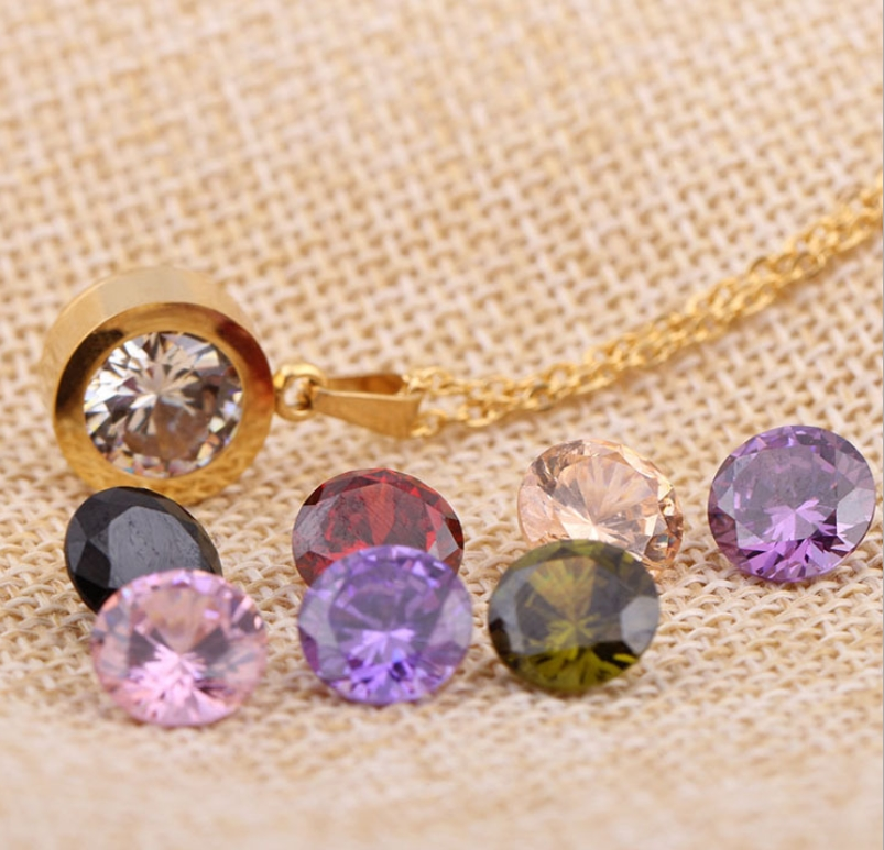 changeable crystal pendant cute necklace exclusive jewelry