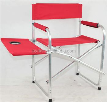 Rouge En Aluminium De Plage Pliante Chaise De Metteur En Scène Avec Table D'appoint Buy Chaise De Directeur De Plage Pliante,Chaise De Directeur