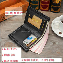 Men's RFID Blocking PU or Genuine Natural Crazy Horse Leather Wallet