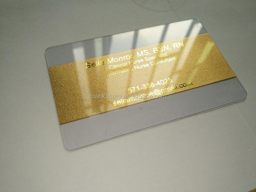 Free Design~~!! Best Material Plastic Transparent Card; Plastic ...