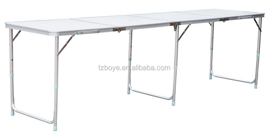 "95"" Quad-fold Aluminum Camping Folding Table W/ Carrying Handle ..."