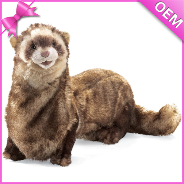40cm Long from Head to Tail Plush Ferret Toy, Stuffed Toy Ferret, Stuffed Ferret