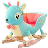 safe soft plush toys stuffed animals on wheels rocking plush toys