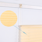Various colors of Sun Fabric Cordless Pleated Plisse Window Shades