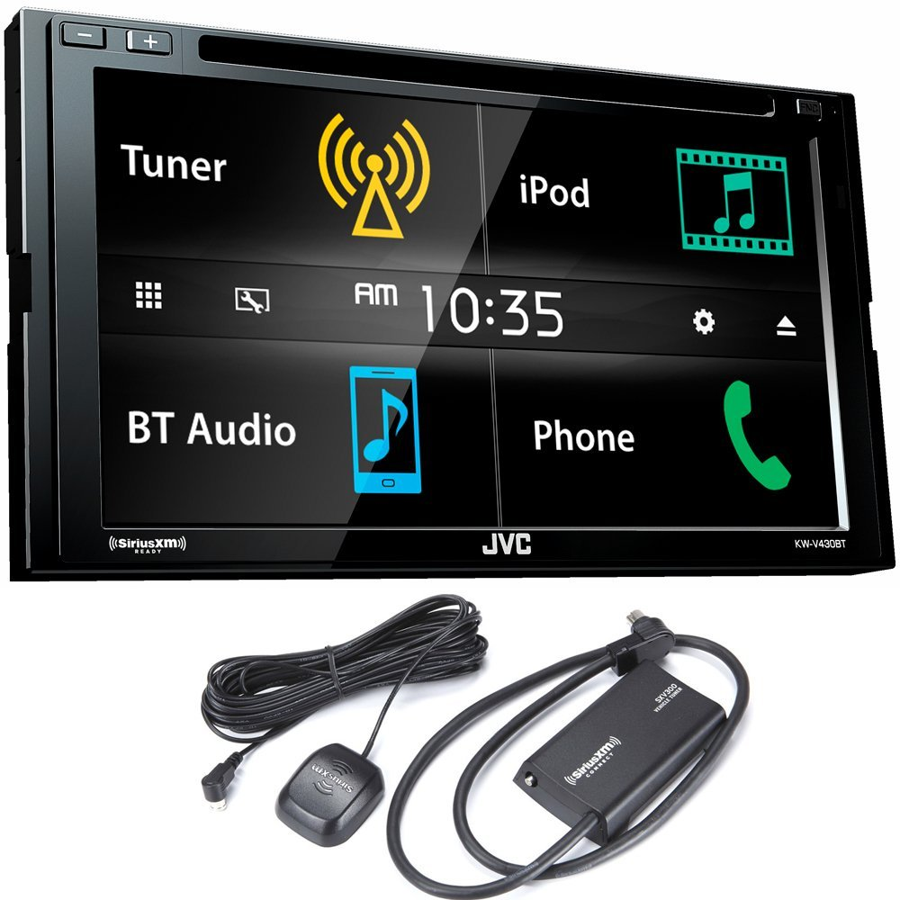 "JVC KW-V430BT 6.8"" Double DIN Bluetooth In-Dash DVD/CD/AM/FM In-Dash Car Stereo with SiriusXM Tuner"