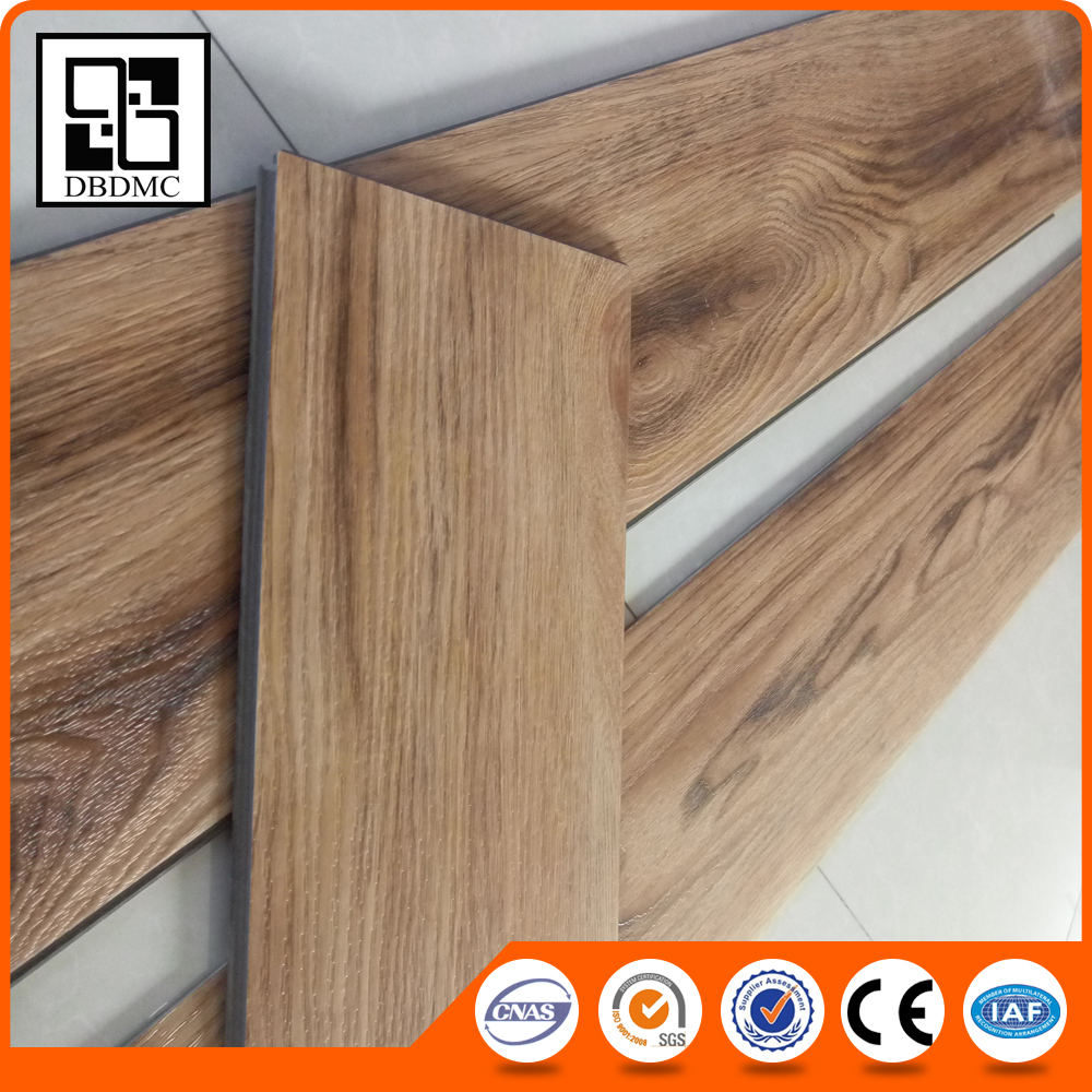 Anti-slip fire resistance commercial growth ring wood look click lock vinyl plank flooring,pvc click flooring