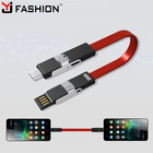 2018 Hot Promotion Christmas Gift 4 in 1 Keychain Magnet USB Charger Cable