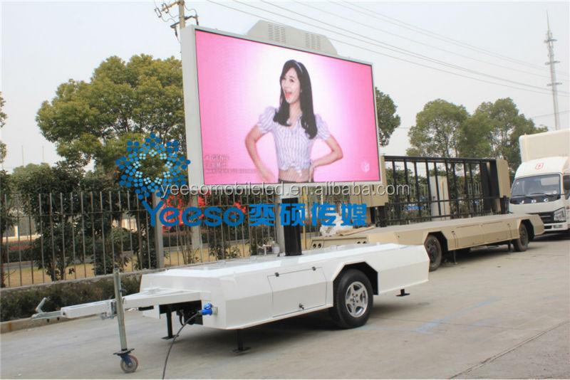 Outdoor Flexible Led Billboard On Trailer,Led Video Tv Trailer For ...