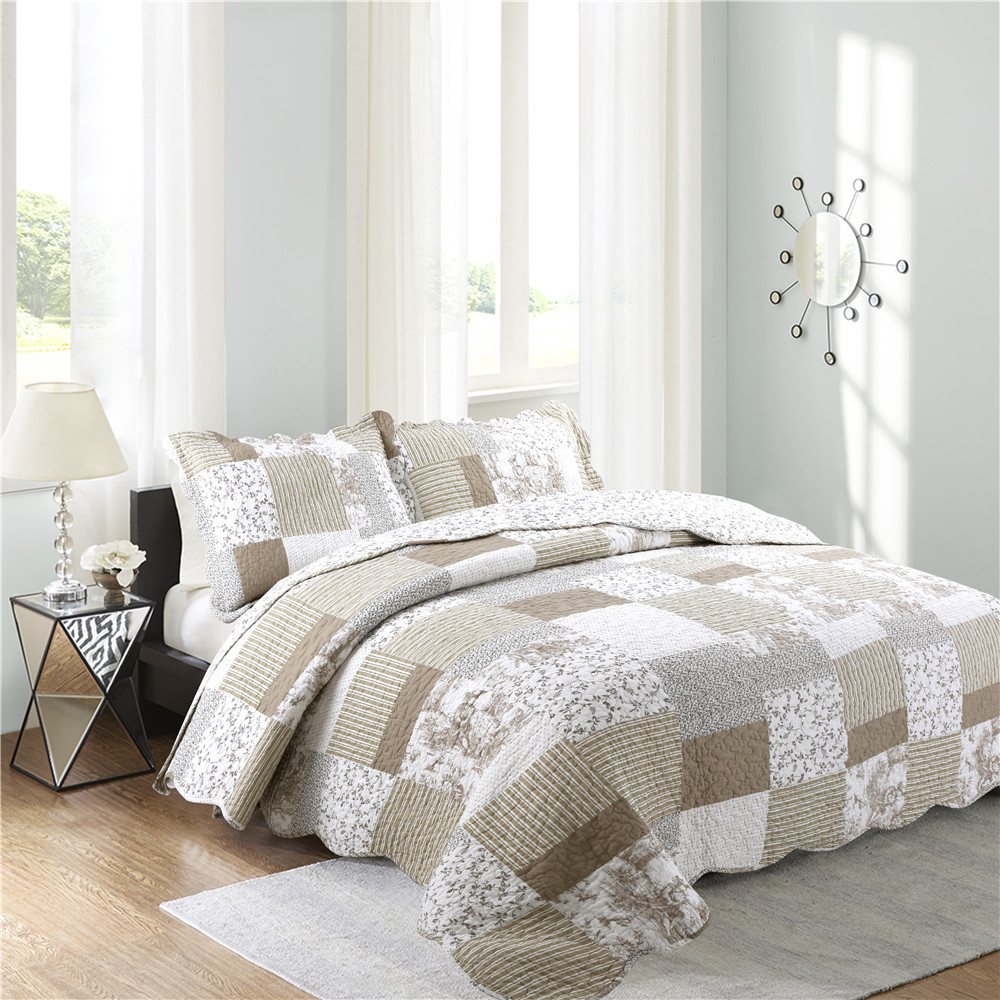 high quality printed quilted bedspread