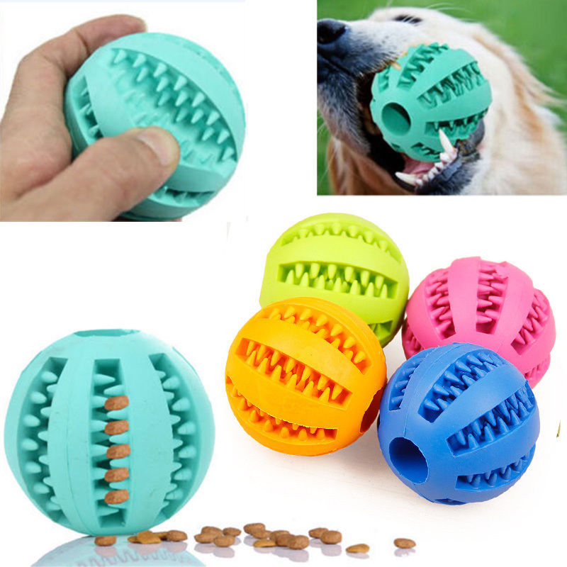 Rubber Ball Chew Pet Dog Puppy Cat Toy Training Dental