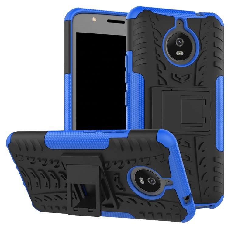 New <strong>hot</strong> in USA kickstand hyun pattern tyre armor mobile phone case for Motorola Moto E4 Plus
