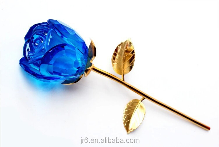Cheap Exquisite Crystal Rose Flowers As Wedding Favor Gift