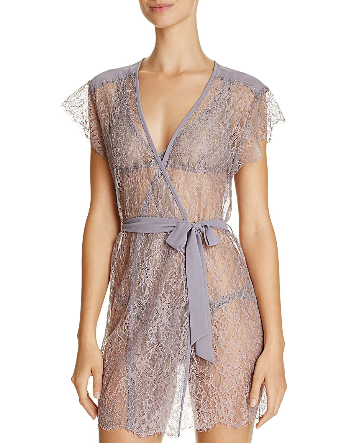 Get Quotations · Only Hearts Womens Purple Leila Sheer Lace Floral Cover Up  Robe Medium M 56f3c4eb5