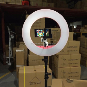 "Pro Camera Photo/Video Ring Flash Light 19""Outer 15""Inner 65W 5400K Unlimited Dimmable Continuous Macro camera Ring Light"