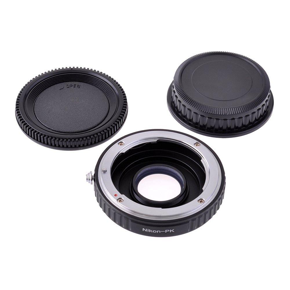 Neewer Black Metal Lens Mount Adapter with Optical Glass for Nikon lens to Pentax PK / K Mount Camera Body, fits Pentax K7 K5 K3 K50 K30 K2 km kx kr K1000 k100d k100ds k200d k10d k20d