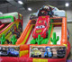 8x4m inflatable toy car theme dry slide