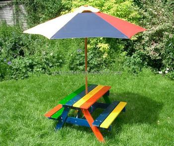 Kids Plastic Picnic Tables With Umbrella