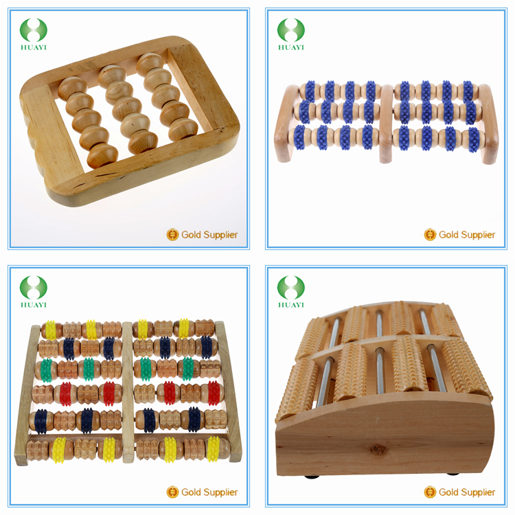 2016 hot sale wooden foot roller massager