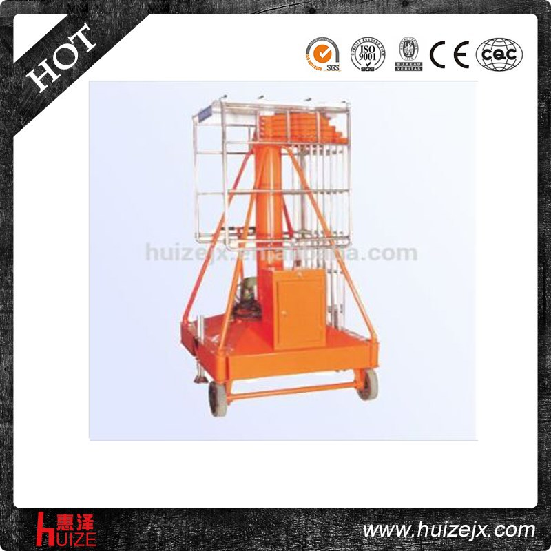 load 2t high lift double ladder electric mechanism platform lift