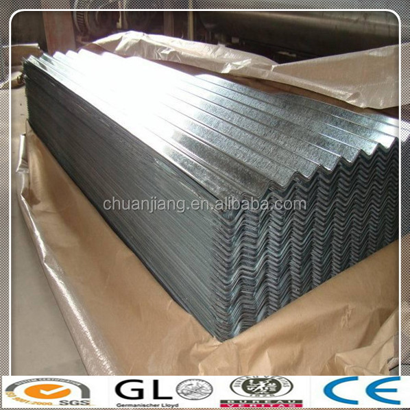 DX52D Z140 Galvanized Corrugated Steel Plate/Sheet for Roofing Use