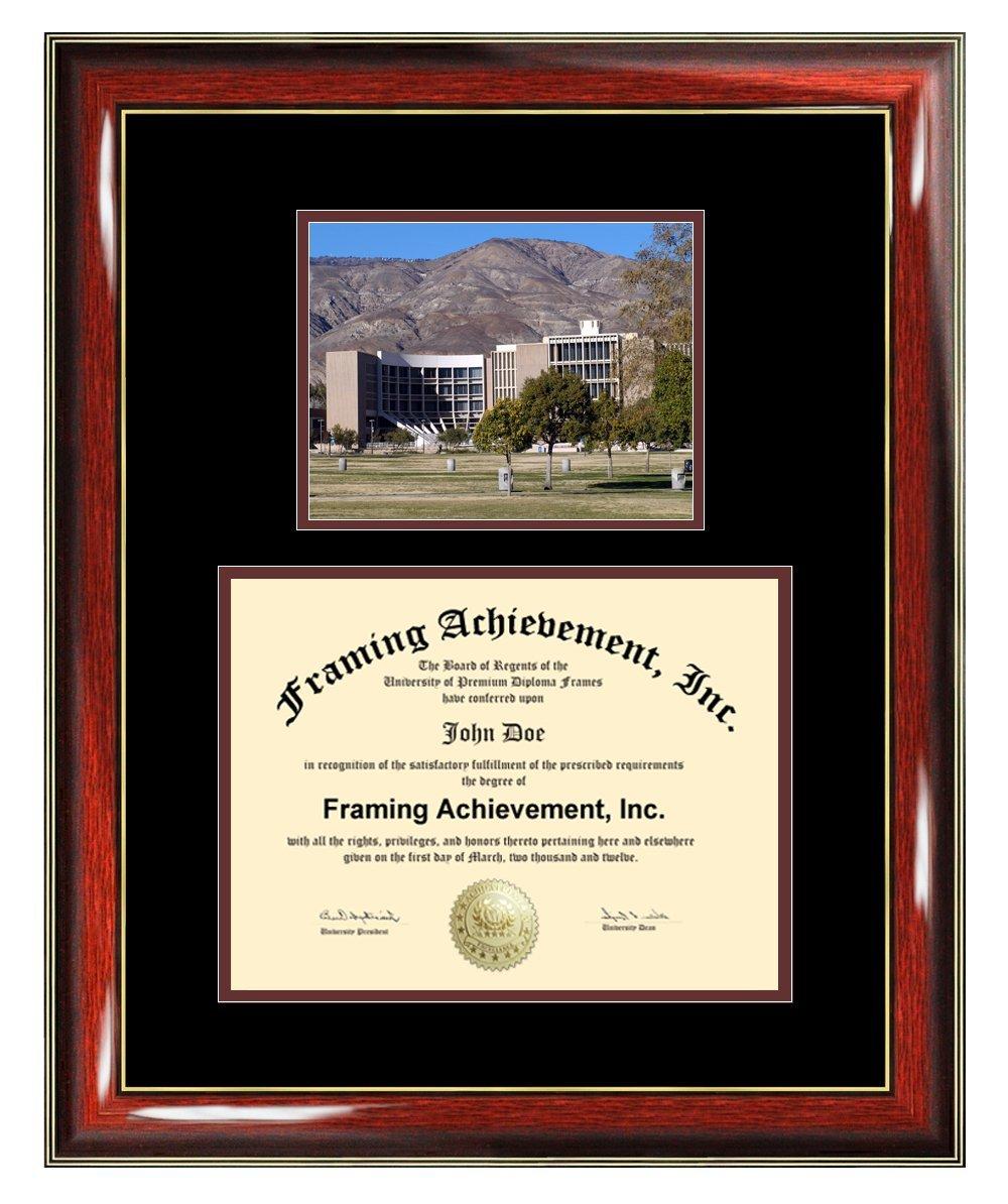 California State University San Bernardino Diploma Frame - CSUSB Graduation Degree Frame - Matted San Bernardino State College Photo Certificate Plaque Framing Graduate Gift