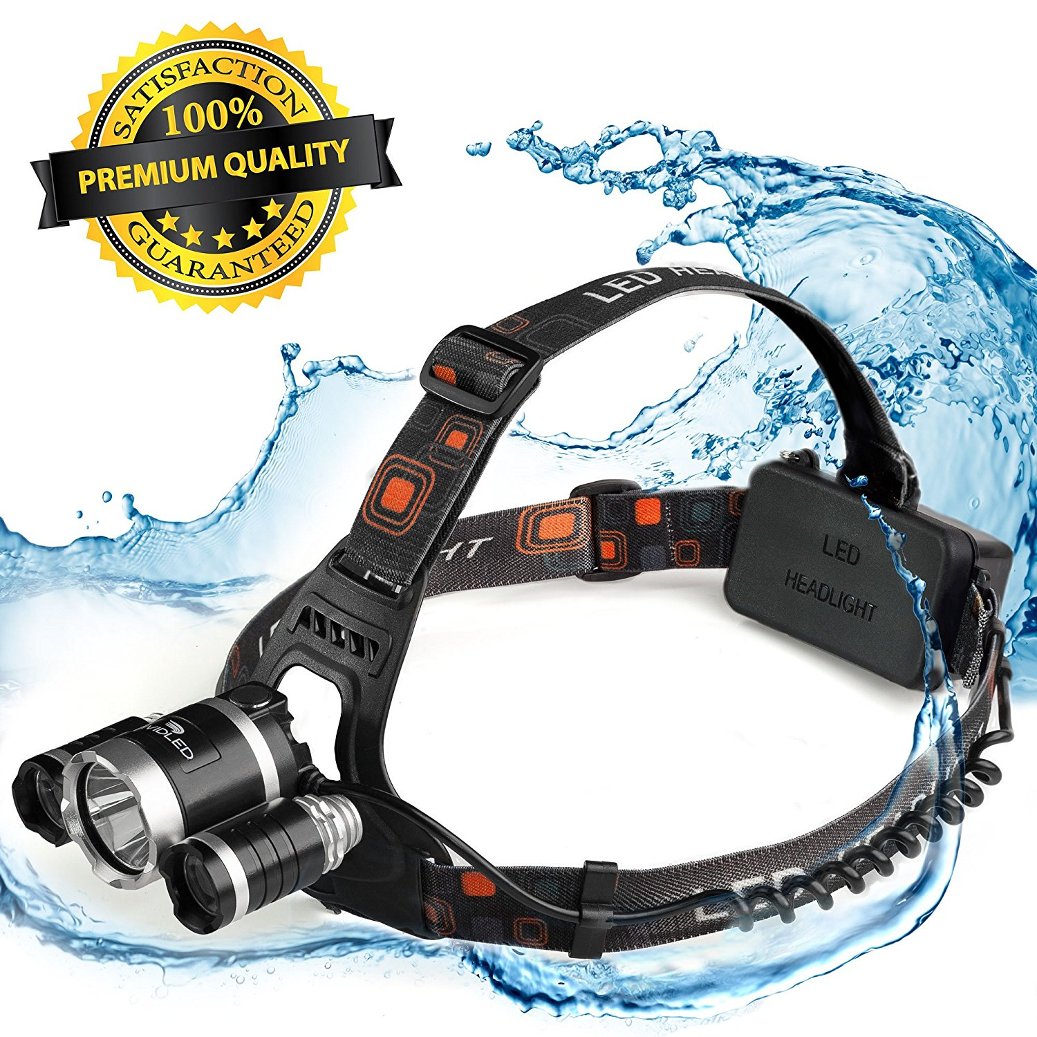 Headlamp - LED Headlamp - Rechargeable Headlamp - Headlamp Flashlight - Cree Headlamp - Bright - Headlight - Headlamp rechargeable batteries - Waterproof USB Head Light for Hunting – Camping