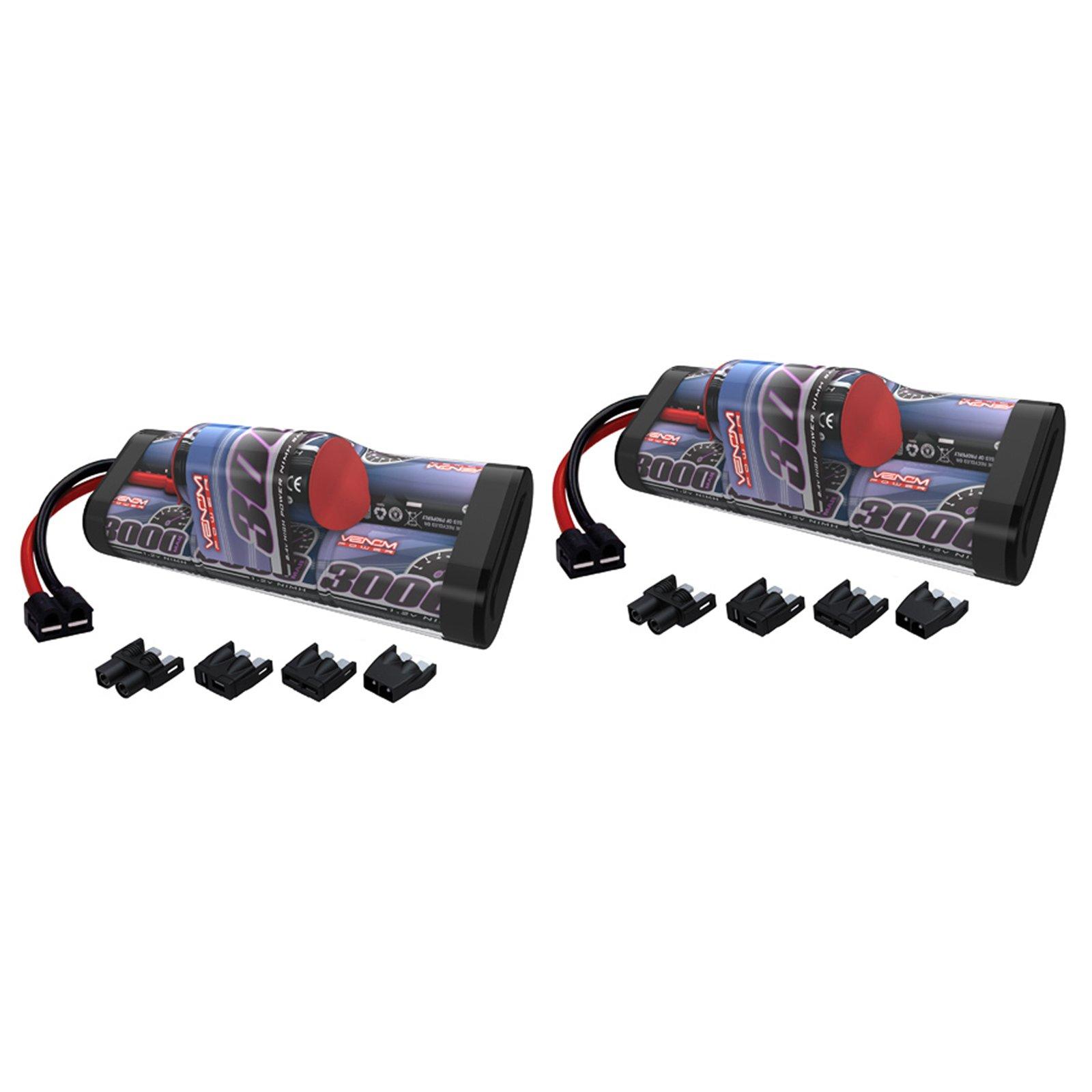 Venom 8.4V 3000mAh 7-Cell Hump NiMH Battery with Universal Plug (EC3/Deans/Traxxas/Tamiya) x2 Packs